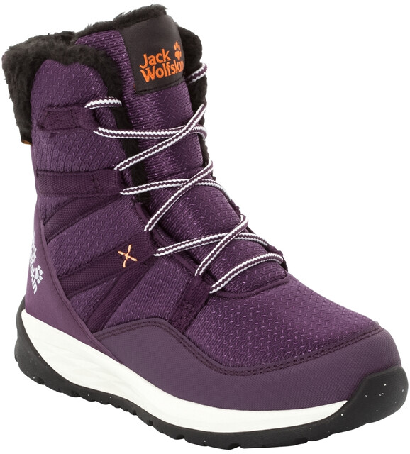 Jack Wolfskin Polar Bear Texapore High Stiefel Kinder purpleoff white
